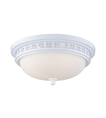 ELK Lighting Signature 3 Light Flush Mount in White 20196/3 photo