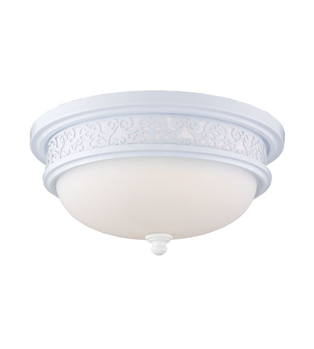 ELK Lighting Signature 3 Light Flush Mount in White 20211/3 photo