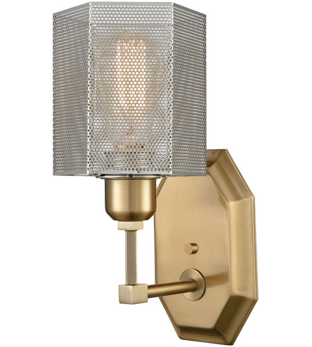 ELK 21110/1 Compartir 1 Light 5 inch Polished Nickel with Satin Brass Wall Sconce Wall Light photo