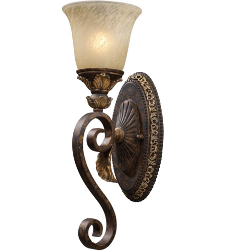 ELK Lighting Regency 1 Light Sconce in Burnt Bronze 2150/1 photo