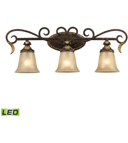 ELK 2152/3-LED Regency LED 30 inch Burnt Bronze And Gold Leaf Vanity Wall Light photo