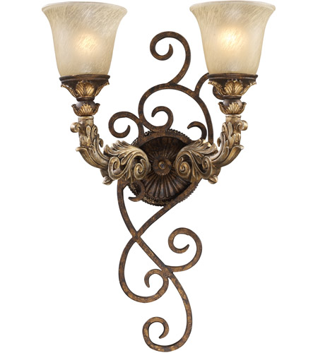 ELK 2155/2 Regency 2 Light 16 inch Burnt Bronze Sconce Wall Light in Standard, Trump Home photo