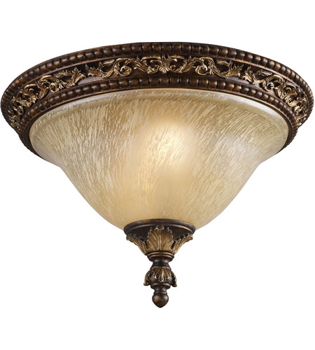 ELK 2156/2 Regency 2 Light 16 inch Burnt Bronze Flush Mount Ceiling Light photo
