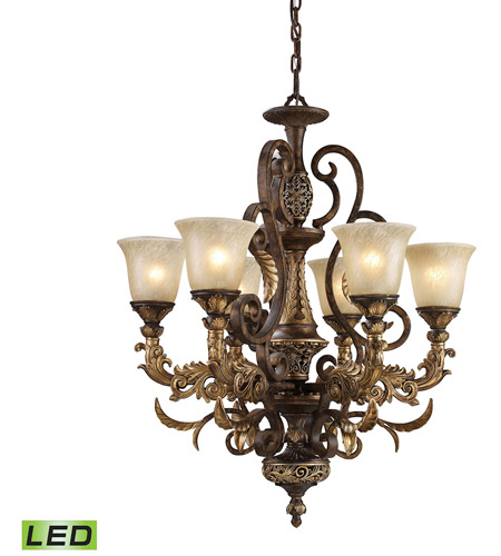 gold leaf chandelier fine art elk 21636led regency led 28 inch burnt bronze and gold leaf chandelier