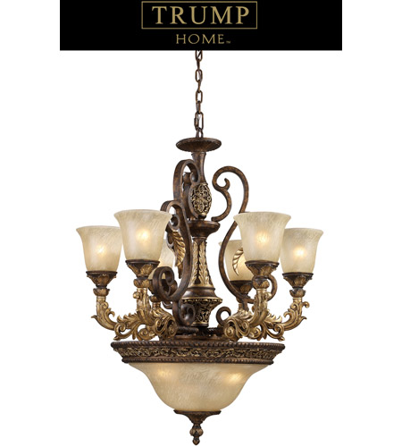 ELK Lighting Regency 9 Light Chandelier in Burnt Bronze 2164/6+3 photo