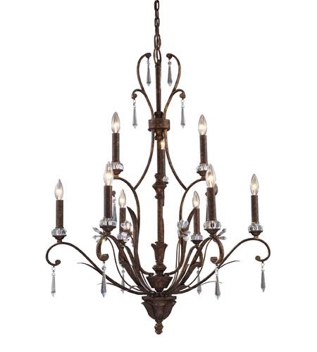 Elk 2184 6 3 Emilion 9 Light 32 Inch Burnt Bronze Chandelier Ceiling