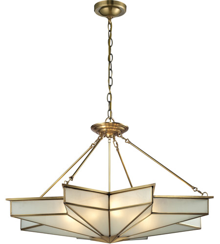 Elk 220138 decostar 8 light 43 inch brushed brass pendant ceiling elk 220138 decostar 8 light 43 inch brushed brass pendant ceiling light aloadofball Gallery
