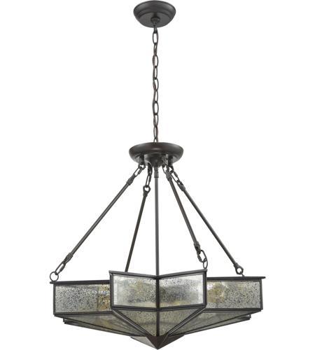 elk decostar 4 light 25 inch oil rubbed bronze chandelier ceiling light