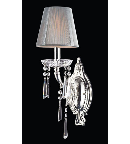 ELK Lighting Princess 1 Light Sconce in Polished Silver 2391/1 photo
