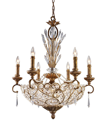 ELK 2404/6+6 Senecal 12 Light 26 inch Spanish Bronze Chandelier Ceiling Light photo
