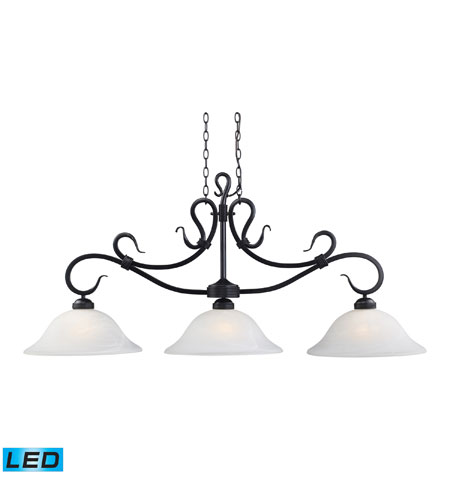 ELK Lighting Buckingham 3 Light Billiard/Island in Matte Black 248-BK-LED photo