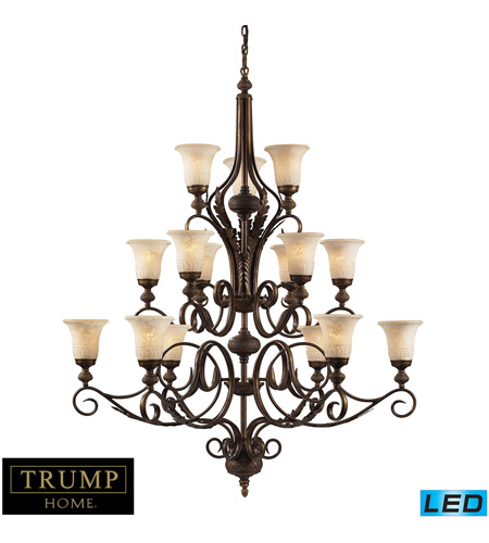 ELK Lighting Briarcliff 15 Light Chandelier in Weathered Umber 2481/6+6+3-LED photo
