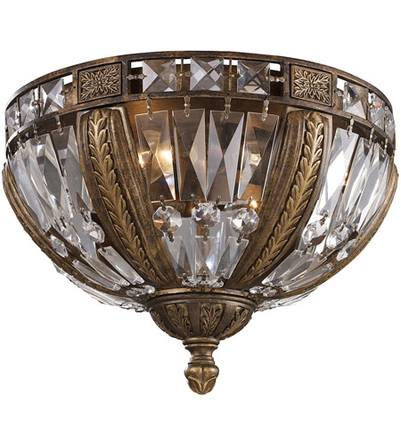 Elk 2493 4 Millwood Light 15 Inch Antique Bronze Flush Mount Ceiling Photo