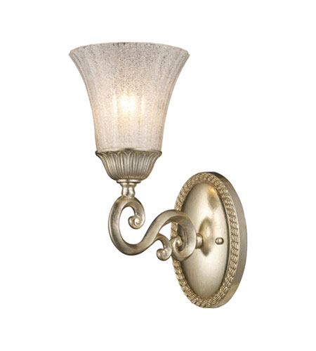 ELK Lighting Trump Home Mar-A-Lago Bianco 1 Light Wall Lamp in Silver Leaf 2570/1 photo