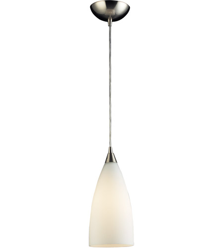 ELK 2580/1 Vesta 1 Light 5 inch Satin Nickel Pendant Ceiling Light in Incandescent, Standard photo