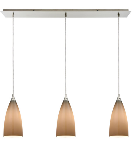 ELK 2584/3LP Vesta 3 Light 36 inch Satin Nickel Linear Pendant Ceiling Light photo