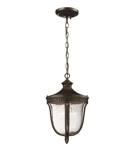 ELK 27002/1 Worthington 1 Light 11 inch Hazelnut Bronze Outdoor Pendant photo