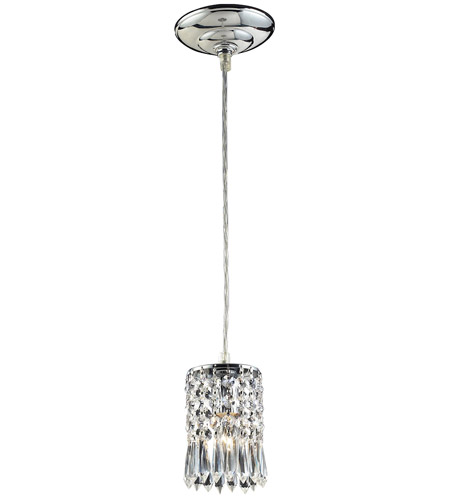 ELK Lighting Optix 1 Light Pendant in Polished Chrome 2997/1A photo