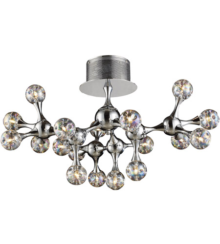 ELK Lighting Molecular 18 Light Semi-Flush Mount in Polished Chrome 30026/18 photo