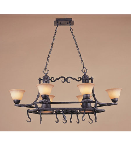 ELK 3098/6+2 Ferro 8 Light 43 inch Round Forged Iron Chandelier Ceiling Light photo