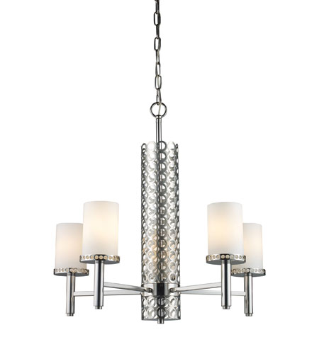 ELK 31027/5 Retrovia 5 Light 24 inch Polished Nickel Chandelier Ceiling Light photo thumbnail