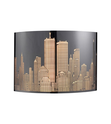 ELK 31035/1 Skyline 1 Light 11 inch Polished Stainless Steel Sconce Wall Light photo