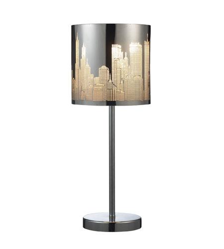 elk lighting skyline 1 light table lamp in polished. Black Bedroom Furniture Sets. Home Design Ideas