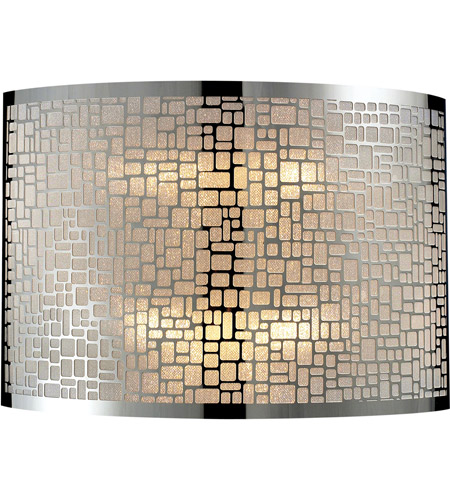 ELK Lighting Medina 2 Light Sconce in Polished Stainless Steel 31040/2 photo