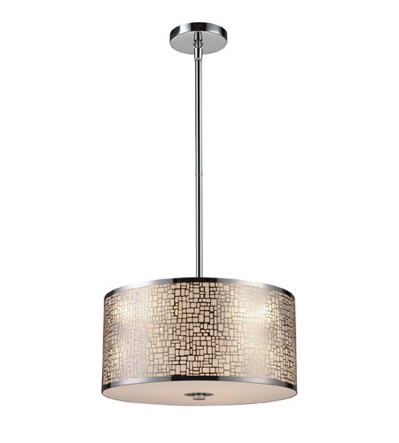 Medina 3 Light 16 Inch Polished Stainless Steel Pendant Ceiling