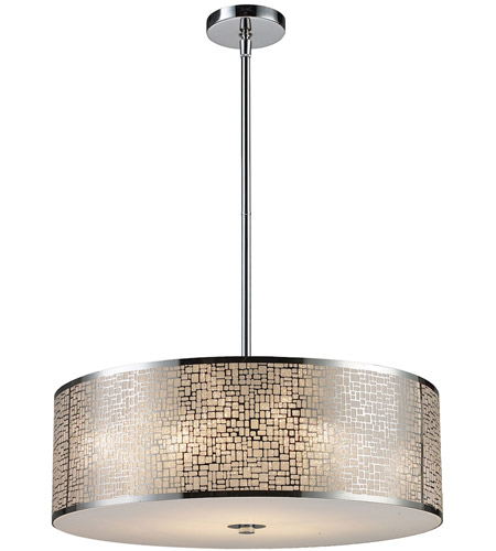 Elk 310435 medina 5 light 24 inch polished stainless steel pendant elk 310435 medina 5 light 24 inch polished stainless steel pendant ceiling light in standard aloadofball Image collections