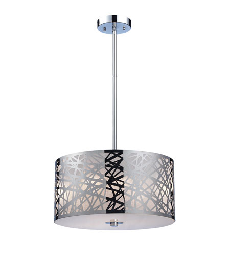 ELK Lighting Tronic 3 Light Pendant in Polished Stainless Steel 31053/3 photo