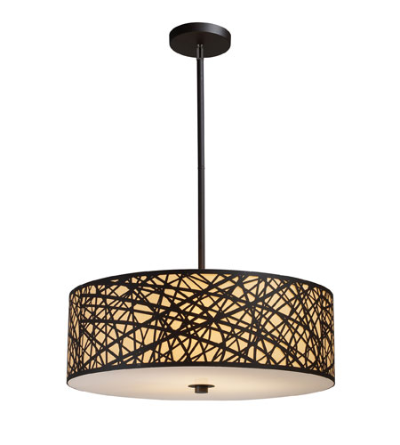 ELK Lighting Tronic 5 Light Pendant in Aged Bronze 31064/5 photo