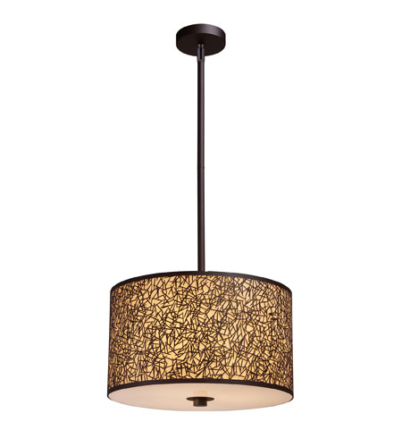 ELK Lighting Confetti 3 Light Pendant in Aged Bronze 31067/3 photo