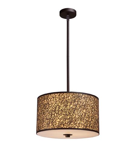 ELK Lighting Confetti 3 Light Pendant in Aged Bronze 31067/3 photo