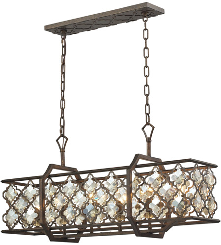 ELK 31098/6 Armand 6 Light 12 inch Weathered Bronze Chandelier Ceiling Light photo