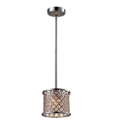 Elk Lighting Genevieve: ELK Lighting Genevieve 1 Light Pendant In Polished Chrome