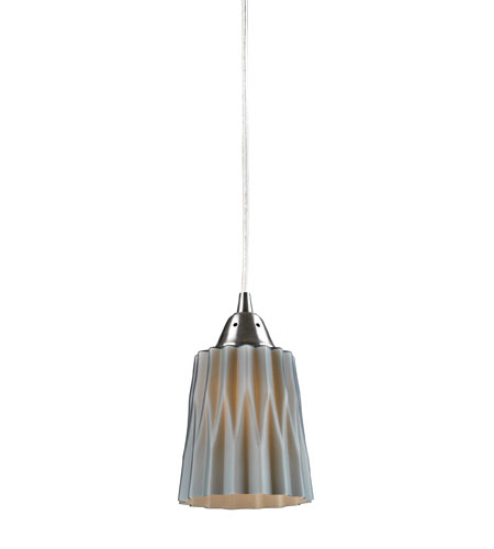 ELK Lighting Angles 1 Light Pendant in Satin Nickel 31141/1GRY photo