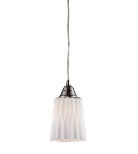 ELK Lighting Angles 1 Light Pendant in Satin Nickel 31141/1WH photo