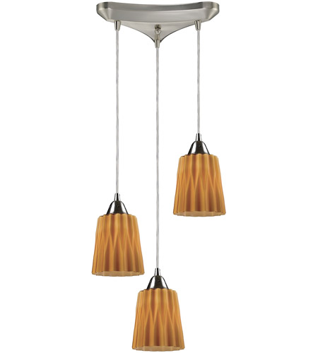 ELK Lighting Angles 3 Light Pendant in Satin Nickel 31141/3AMB photo