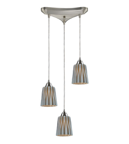 ELK Lighting Angles 3 Light Pendant in Satin Nickel 31141/3GRY photo