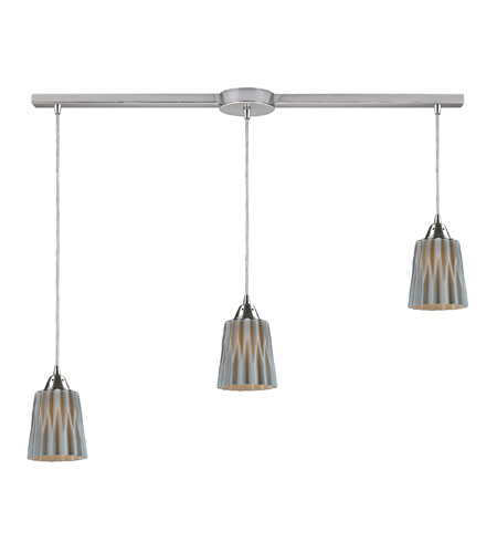 ELK Lighting Angles 3 Light Pendant in Satin Nickel 31141/3L-GRY photo