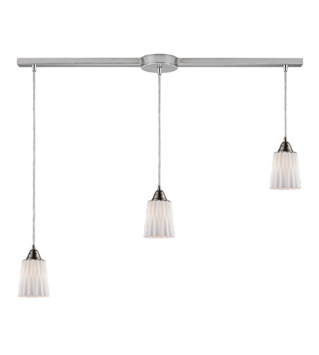 ELK Lighting Angles 3 Light Pendant in Satin Nickel 31141/3L-WH photo