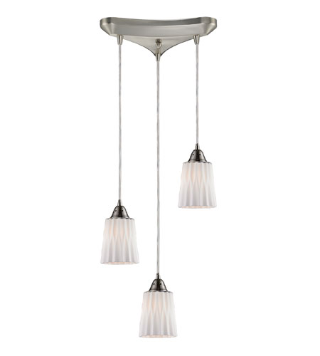 ELK Lighting Angles 3 Light Pendant in Satin Nickel 31141/3WH photo