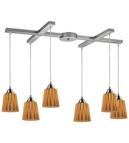 ELK Lighting Angles 6 Light Pendant in Satin Nickel 31141/6AMB photo
