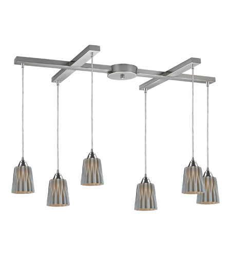 ELK Lighting Angles 6 Light Pendant in Satin Nickel 31141/6GRY photo