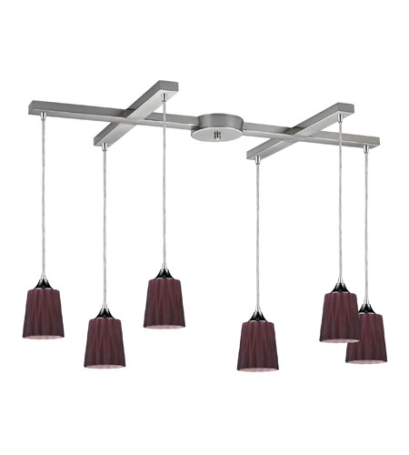 ELK Lighting Angles 6 Light Pendant in Satin Nickel 31141/6PUR photo