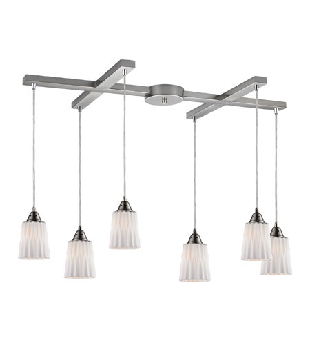 ELK Lighting Angles 6 Light Pendant in Satin Nickel 31141/6WH photo