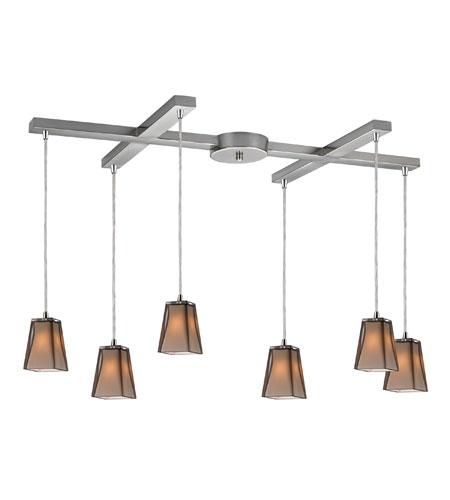 ELK 31143/6 Cubico 6 Light 33 inch Satin Nickel Pendant Ceiling Light photo