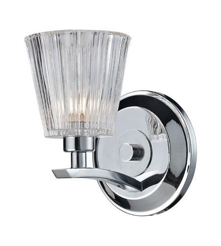 Elk lighting calais 1 light bath bar in polished chrome for Elk bathroom lighting