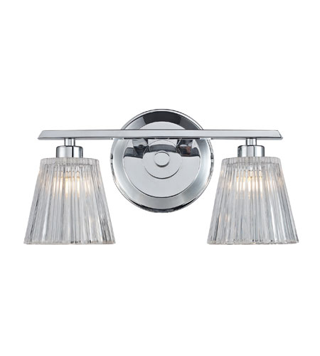 ELK 31163/2 Calais 2 Light 13 inch Polished Chrome Bath Bar Wall Light photo